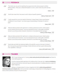 Freelance Adobe Trainer Greta Powell