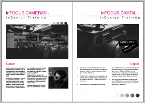 InDesign Training example of grids and guides