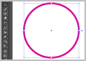 Ellipse tool in Adobe Illustrator