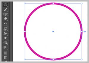 Ellipse tool in Adobe Illustrator