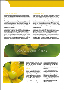 InDesign Training Course Work