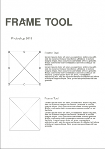 Photoshop 2019 Frame Tool Layout