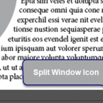 Split Window in InDesign