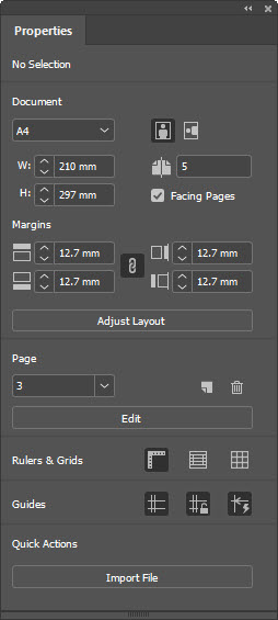 InDesign CC 2019 Properties Panel