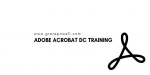Online Adobe Acrobat Training - Greta Powell Training