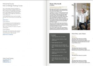 InDesign Training Course example