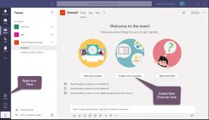 Microsoft Teams & Creative Cloud Assets starting screen