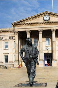 Harold Wilson Statue Huddersfield Train Station